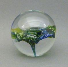 Vtg Signed Kosta Boda Goran Warff Handblown Studio Art Glass Paperweight  #KostaBoda