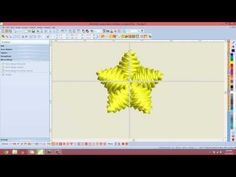 Create 3D Star with BERNINA Embroidery Software V7 - YouTube