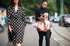 Milan Fashion Week Spring 2014 Street Style - Milan Fashion Week Spring 2014 Street Style, Day 3