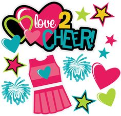 Love 2 Cheer SVG scrapbook collection cheerleading svg files cheerleading svg cuts for cardmaking scrapbooking