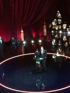 according to Digital spy tom announced best film bafta. They posted a blurry blurry picture.  Looks like he only just made it on time -  with about 15 mins to go before he had to present I think :)