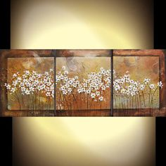 Original painting metallic textured abstract by PaintingsAbstract