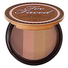 Too Faced - California in a Compact - Beach Bunny. I'm a brown skin girl.. This bronzer gives me just the right kind of shimmer!   #sephora