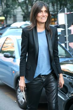 Thestreetfashion5xpro: In the Street...Emmanuelle Alt, Milan
