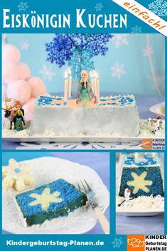 Eiskönigin Kuchen für Elsa & Anna ⋆ Kindergeburtstag-Planen.de Anna Und Elsa, Mother And Child, Popular Recipes, Baby Kids, Food And Drink, Birthday Cake, Baking, Sweet, Desserts