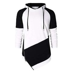 Man Autumn Spring Black Patchwork Long Sleeve Warm Hoodies Sweatshirt Pullover Jumper Blouse Shirt Top Tracksuit Sportswear Soft Fabric Polyester Side Zip Up Daily Casual Party (S) Black And White Hoodies, Black White, Hoodie Sweatshirts, Camouflage, Fleece Pullover, Cheap Hoodies, Sport, Casual, Look
