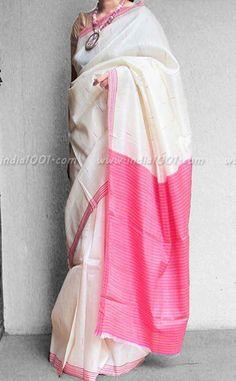 Stunning Woven Tussar Silk Saree