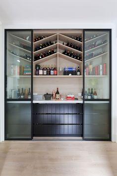 Petaluma House & Large custom wine storage unit makes living room feature | Wine ...