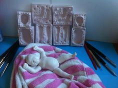 Flexible Silicone Press Mold For Polymer Clay Newborn Baby Dolls, Reborn Babies, Baby Mold, Silicone Baby Dolls, Clay Baby, Baby Tattoos, Polymer Clay Dolls, Dolls For Sale, Miniture Things