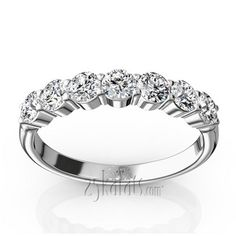 Recreation of a classic band, this seven stone traditional band improved with comfort fit band. This anniversary band set with round brilliant diamonds with Diamond Anniversary Bands, Anniversary Rings, Wedding Anniversary, Womens Wedding Bands, Diamond Wedding Rings, Fancy, Engagement Rings, Stone, Brilliant Diamond