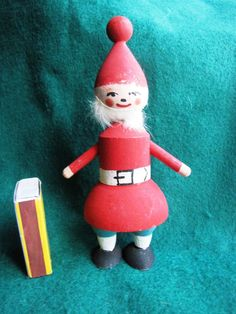 Vintage Wood Christmas Doll Elf Gnome Santa Tomte Sweden Figurine Figure 1981