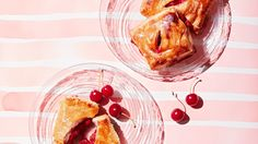 A cross between a sour cherry pie and a cheese Danish, these flaky pastries are the perfect way to showcase the ephemeral summer fruit.