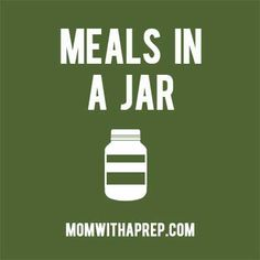 Increase your PREPared pantry with ready-made meals storable in jars or mylar bags. Ready made meals, food in jars, meals in jars, mason jar meals, just add water, MRE Check my other boards for more emergency preparedness and homesteading information. /// Get the Mom with a PREP newsletter here >> http://eepurl.com/Qjzmv << Curated by MomwithaPREP.com