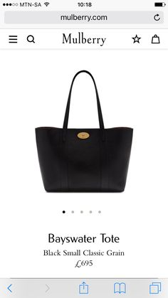 Black Mulberry tote
