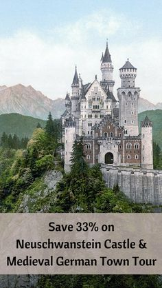 Germany Travel - tour Neuschwanstein Castle (the inspiration for the castle in Disney's Sleeping Beauty) and a well-preserved medieval German town, and save almost 33%! Great if you are looking for ideas for things to do in Germany and planning your Germany travel itinerary.