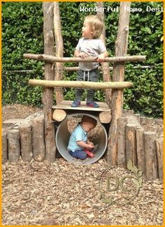 DIY Kinder im Freien Spielbereich Inspiration Best Picture For Outdoor play areas montessori For Your Taste You are looking for something, and it is going to tell you exactly what you are looking for, Kids Outdoor Play, Outdoor Play Spaces, Kids Play Area, Backyard For Kids, Diy For Kids, Kids Fun, Backyard Playground, Playground Ideas, Backyard Playhouse