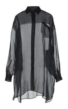 maison margiela // silk organza tunic blouse