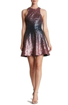 Dress the Population 'Andi' Sequin Fit & Flare Dress available at #Nordstrom
