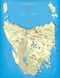Free Camping Tasmania Map Australia TravellingTwo: Bicycle Touring Around The World