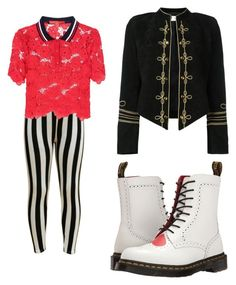 """Queen of hearts daughter"" by kiraleighx on Polyvore featuring Yves Saint Laurent, Tommy Hilfiger and Dr. Martens"