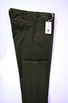 NWT ZANELLA pantalone uomo SPORTIVO cotone FUSTAGNO verde A/I tg. 50-52(IT)