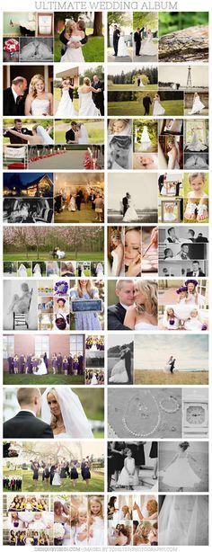Design by Jenn — Ultimate Wedding Album Template Wedding Photo Books, Wedding Photo Albums, Wedding Book, Wedding Photos, Wedding Album Layout, Wedding Album Design, Photography Templates, Wedding Scrapbook, Photo Layouts