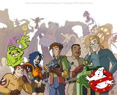 Amazin' Adventures by Jerry Whitworth Considering the success of USA Cartoon Express, Disney Afternoon, and Fox Kids, other companies in the early Ghostbusters Firehouse, Extreme Ghostbusters, The Real Ghostbusters, Stephen Lang, Old School Cartoons, 90s Cartoons, Stan Lee, Die Geisterjäger, Monsters
