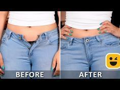 It's time to upgrade your looks with these awesome clothing hacks! Blossom presents super cool diy videos which you can create at home.Over 10 Amazing Folding Clothes Life Hacks will Save Your RoomClever Towel Ideas, Hacks AndMake Your Pants Fit Better! Diy Jeans, Diy Clothes Life Hacks, Clothing Hacks, Sewing Hacks, Sewing Tutorials, Sewing Tips, Techniques Couture, Useful Life Hacks, Sewing Projects For Beginners