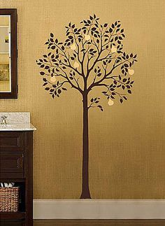 Large Fruit Tree Stencil  See more Fresco and Mural Stencils: http://www.cuttingedgestencils.com/wall-stencils-mural-stencils.html