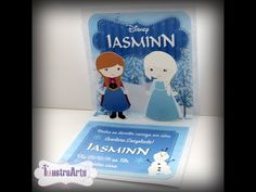 Passo a Passo - Convite 3D Frozen - YouTube Frozen, Disney, Youtube, Cards, 3d, Decor, Step By Step, Creativity, Invitations