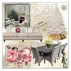 """Home for Christmas"" by frenchfriesblackmg ❤ liked on Polyvore featuring interior, interiors, interior design, hogar, home decor, interior decorating, Caskata, Universal Lighting and Decor y Crate and Barrel"