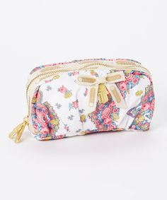 Look at this #zulilyfind! Fleur Dete Embroidery Large Cosmetic Bag by LeSportsac #zulilyfinds