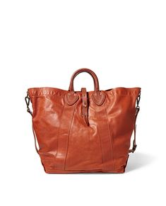 3c607f3473e3 Ralph Lauren Rrl Tumbled Leather Tote - Distressed Brown One Size