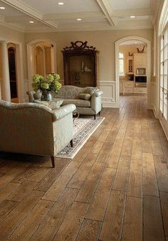 ~ Living a Beautiful Life ~ Tuscany™ Collection cm) wide, Vintage French Oak hardwood floor Flooring, House Design, New Homes, House Styles, House Interior, Hardwood Floor Colors, Home, Family Room, Oak Hardwood Flooring