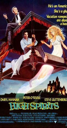 Directed by Neil Jordan.  With Peter O'Toole, Daryl Hannah, Steve Guttenberg, Donal McCann. When Peter Plunkett's Irish castle turned hotel is about to be repossesed, he decides to spice up the attraction a bit for the 'Yanks' by having his staff pretend to haunt the castle. The trouble begins when a busload of American tourists arrive - along with some real ghosts. Among the tourists are married couple Jack and Sharon. Sharon's father holds the mortgage on Castle Plunkett, so she's ...