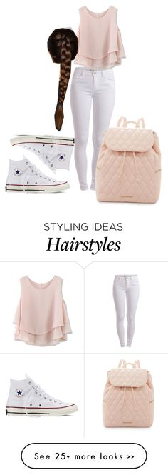 """Causal #1"" by jaylahisbeauty on Polyvore featuring Pieces, Vera Bradley, Chicwish and Converse"