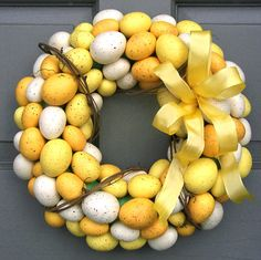 Yellow Egg Wreath