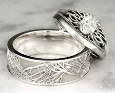I found this when looking for your feather wedding bands # WebMatrix 1.0