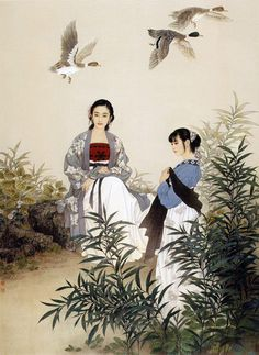 By Zhao Guojing (赵国经) and Wang Meifang (王美芳), from China - oil painting -