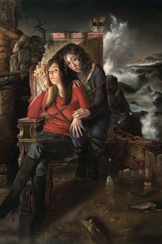 It's Coming by David Michael Bowers, oil on linen