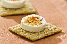 Mediterranean Goat Cheese Bites recipe - Pair each serving of these delicious appetizers with a glass of white wine.