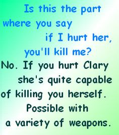 The Mortal Instruments - Kill by bookworm16016.deviantart.com