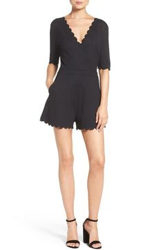 French Connection 'Beau' Scalloped Romper available at #Nordstrom