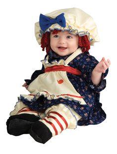 Halloween Child Ragamuffin Dolly Infant Costume 6-12 Months Raggedy Ann New  #Rubies #RagamuffinDollyCostume
