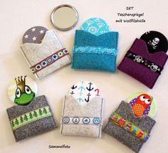 Taschenspiegelset  AUSWAHL  Wollfilzhülle  von ღKreawusel-Designღ auf DaWanda.com