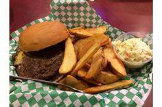 Juicy Lucy, Club, Minneapolis from The 101 Best Burgers in America for 2017 Slideshow Burger Menu, Good Burger, Burger Recipes, Best Burger In America, Juicy Lucy, Menu Items, Onion Rings, Minneapolis, Hamburger
