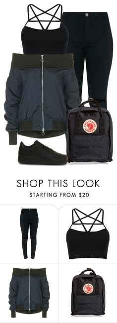 """""""Unbenannt #3733"""" by mund-tot ❤ liked on Polyvore featuring WithChic, Topshop, Fjällräven and NIKE"""