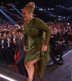 Showing some leg Adele