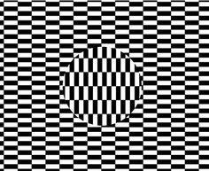 Arte ou Ilusão - O Efeito Ouchi - O efeito ou ilusão de Ouchi, assim chamado em homenagem ao artista japonês Hajime Ouchi, é criado à partir da superposição de um disco centralizado que parece flutuar em um fundo xadrez quando movemos os olhos em torno da figura, principalmente nos sentidos horizontal e vertical.