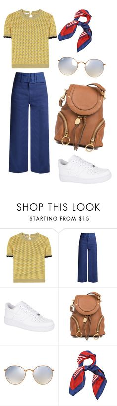 """School outfit"" by indrasavje01 on Polyvore featuring Miu Miu, Sea, New York, NIKE, See by Chloé and Ray-Ban"